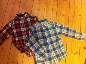 Checked shirt Red and Blue